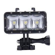 Cámara de buceo bajo el agua llevó la lámpara para gopro hero 4 3 + 2 Deportes de Acción Videocámara Luz de Vídeo Luces de LED Estancos Para cámara