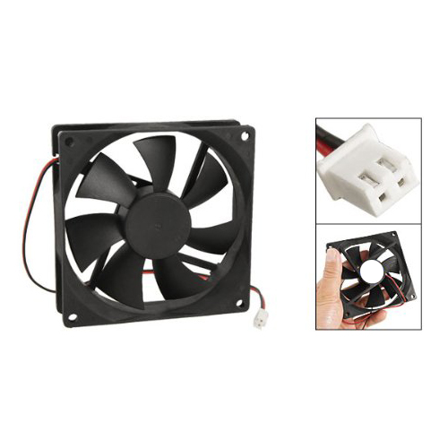 PROMOTION! 90mm x 25mm DC 12V 2Pin Cooling Fan for Computer Case CPU Cooler gdstime 10 pcs dc 12v 14025 pc case cooling fan 140mm x 25mm 14cm 2 wire 2pin connector computer 140x140x25mm