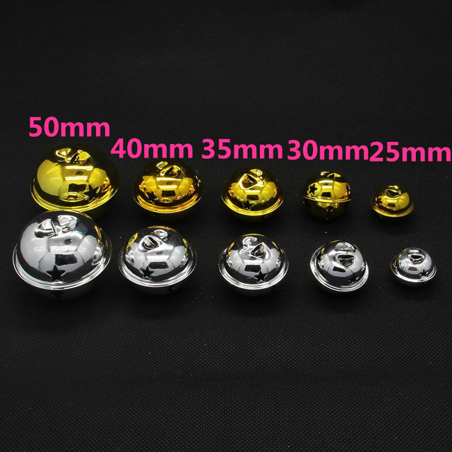 Beauty 40mm 40mm 40pcslot GoldSilver Jingle Bells Fit Festival Fascinating Silver Bells Decorations