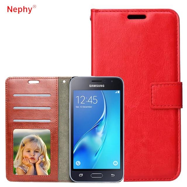 031ac716bc1 Nephy Flip cartera Funda de cuero para Samsung Galaxy A3 A5 A7 J1 J3 J5 J7