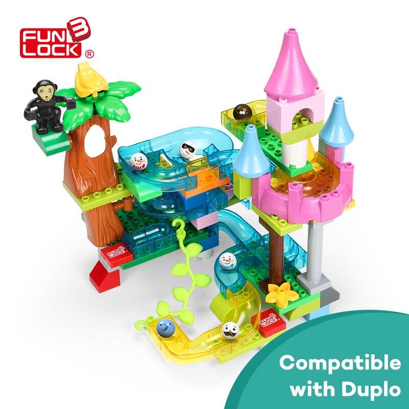Fdébloque Duplo 83 pcs Jouets Blocs de Construction Ensemble Cristal Marbre Terme Cadeau Éducatif Briques pour Enfants Enfants