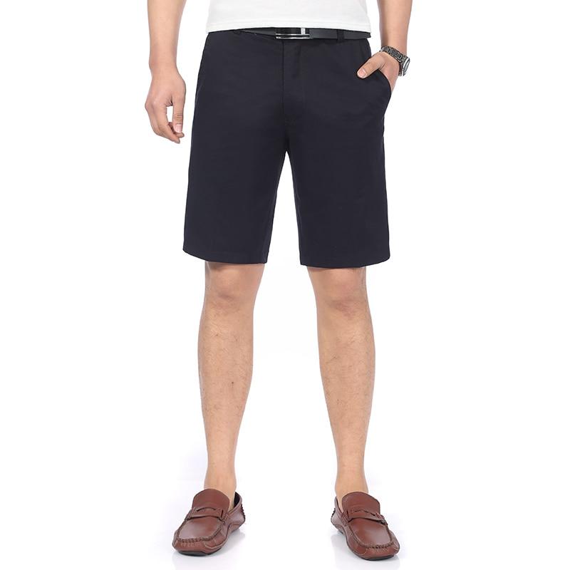 Summer Man Casual Shorts Navy Blue Khaki Dark Gray Beige Short Trousers Men Zipper Waist Shorts Homme Bermuda Trousers Slim Fit