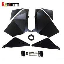 KEMiMOTO For Polaris RZR 900 XC RZR-S 900 1000 2015 2016 2017 Lower Door Panel Inserts UTV Door Bag knee Pad Door Speaker Pod