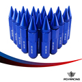 PQY RACING- 20PCS HIGH QUALITY ALUMINUM EXTENDED TUNER WHEEL LUG NUTS WITH SPIKE FOR WHEELS/RIMS M12X1.5 PQY- ELBN1215