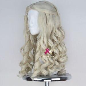 Image 2 - Женский Длинный светлый парик Miss U, вьющиеся волосы в стиле королевы, маскарадный парик на Хэллоуин для взрослых и детей