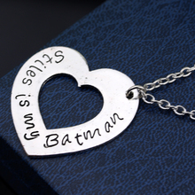 Batman Hollow Double Heart Vintage Pendant Necklace (Copy)