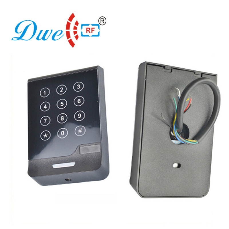 DWE CC RF access control card reader touch screen wiegand keypad reader password ID IC number reader whole sale elegant mf1 card access control with touch screen keypad 3000pcs cards capacity wiegand in and out support