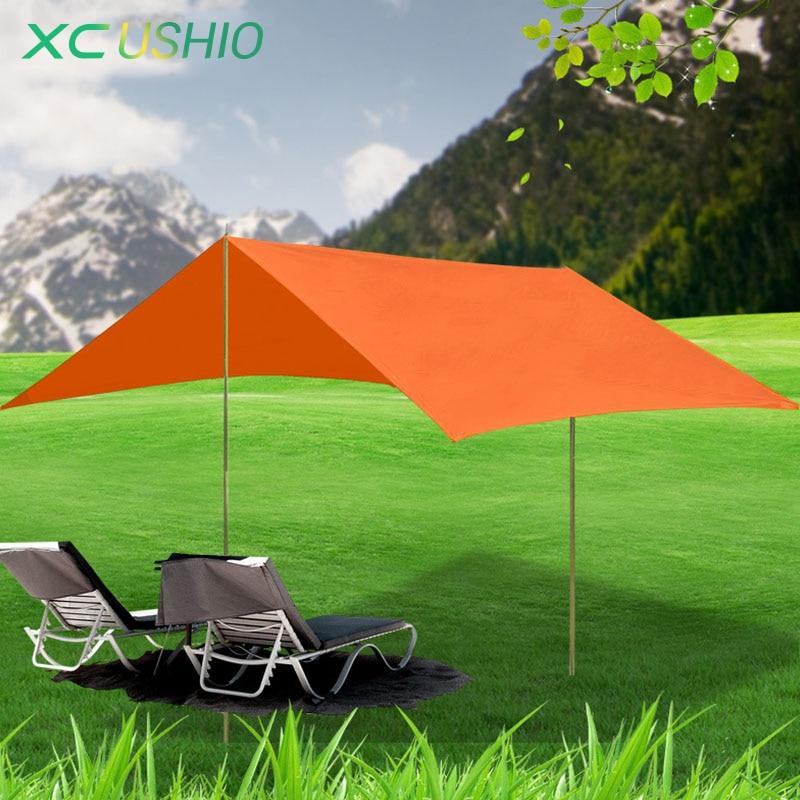 ФОТО New Multifunction rain proof beach fishing Hiking Hike  awning canopy tarp outdoor sunshade park camping pergola canopy tent