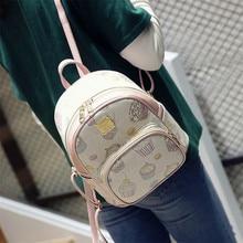 Wemen мешок Новинка 2017 года свежий Стиль рюкзак для девочек Корейский стиль Kawaii элегантный дизайн сумка мультфильм вышивка мини-рюкзак школьный рюкзак