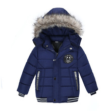 Kids winter jacket Hooded Warm Children Jacket Spring Fall Toddler Outerwear Toddler Baby Boy Girl Cotton Padded Parka Coat недорого