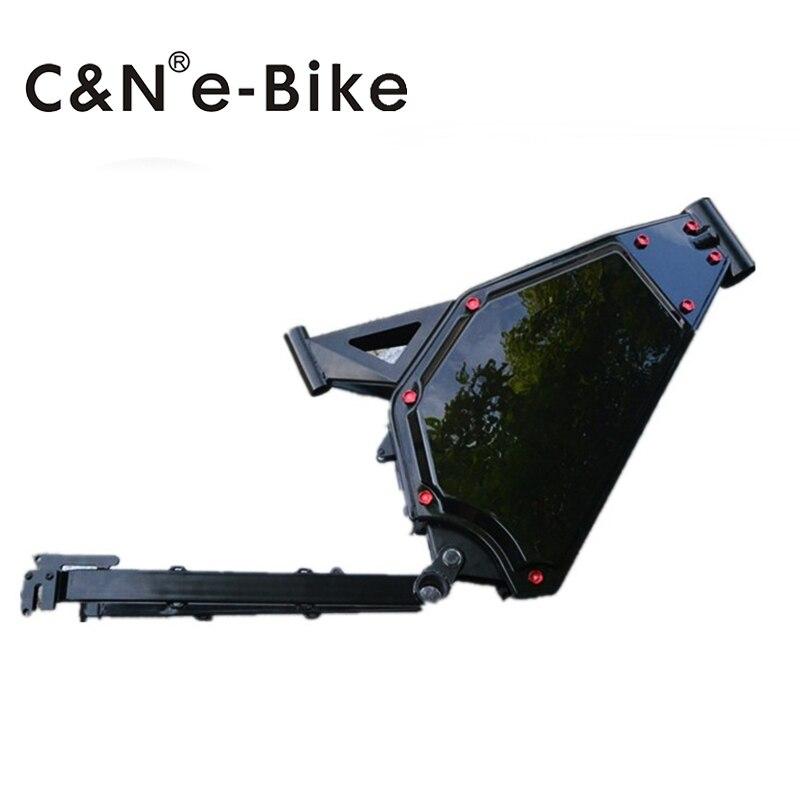Marco de bicicleta eléctrica Leili de acero alto en carbono 8000w nuevo diseño enduro ebike batería dentro del marco