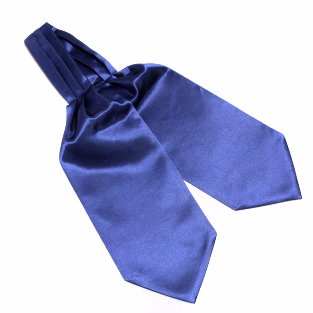 HOOYI 2018 solid Men Silk Cravat Adult Casual Ties for man gift 5 colors