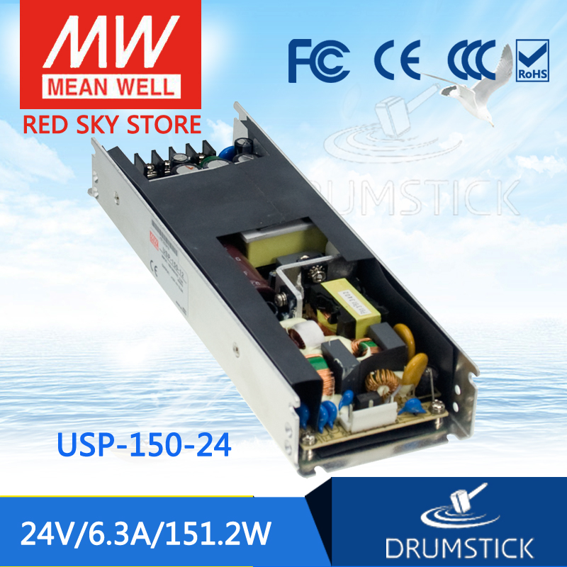 Selling Hot MEAN WELL USP-150-24 24V 6.3A meanwell USP-150 24V 151.2W U-Bracket with PFC Function Power Supply mean well original usp 150 24 24v 6 3a meanwell usp 150 24v 151 2w u bracket with pfc function power supply