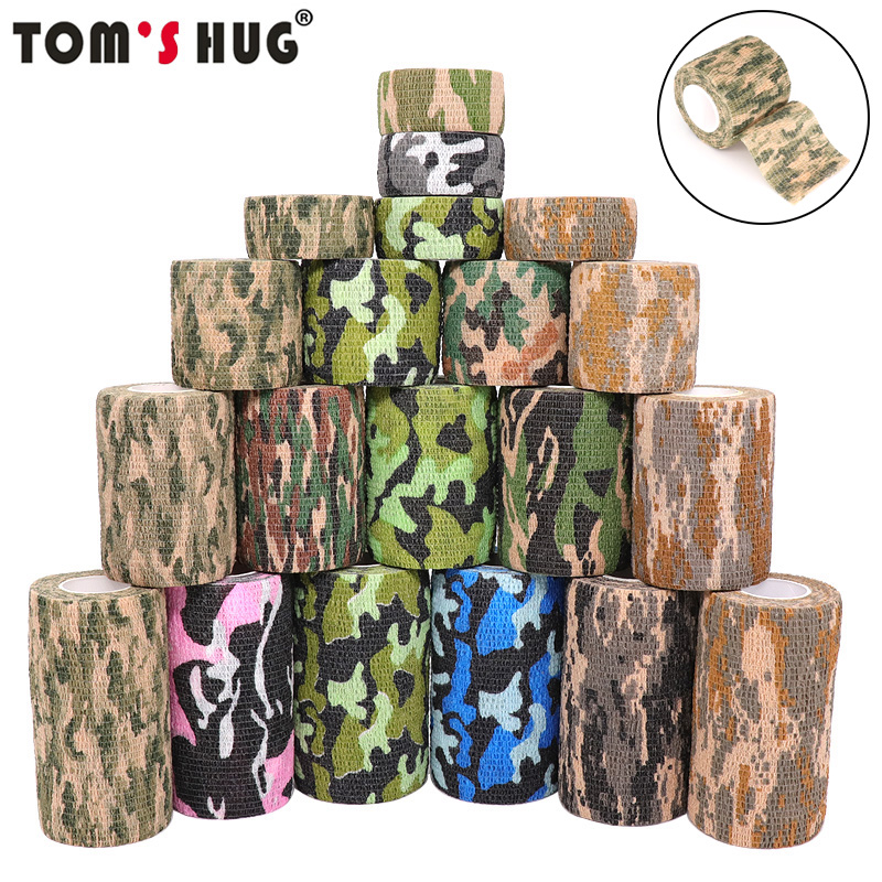 45m-hunt-disguise-elastoplast-camouflage-elastic-wrap-tape-self-adhesive-sports-protector-ankle-knee-finger-arm-bandage
