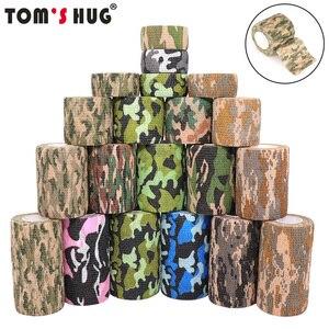 4.5m Hunt Disguise Elastoplast Camouflage Elastic Wrap Tape Self Adhesive Sports Protector Ankle Knee Finger Arm Bandage(China)