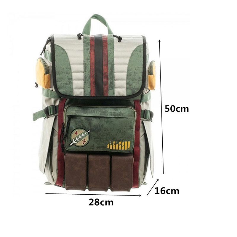 Image 5 - Zebella Star Wars Backpacks Yoda Boba Fett Laptop Men Backpack Vintage Travel Bags Games Movies Anime Male Bags-in Backpacks from Luggage & Bags