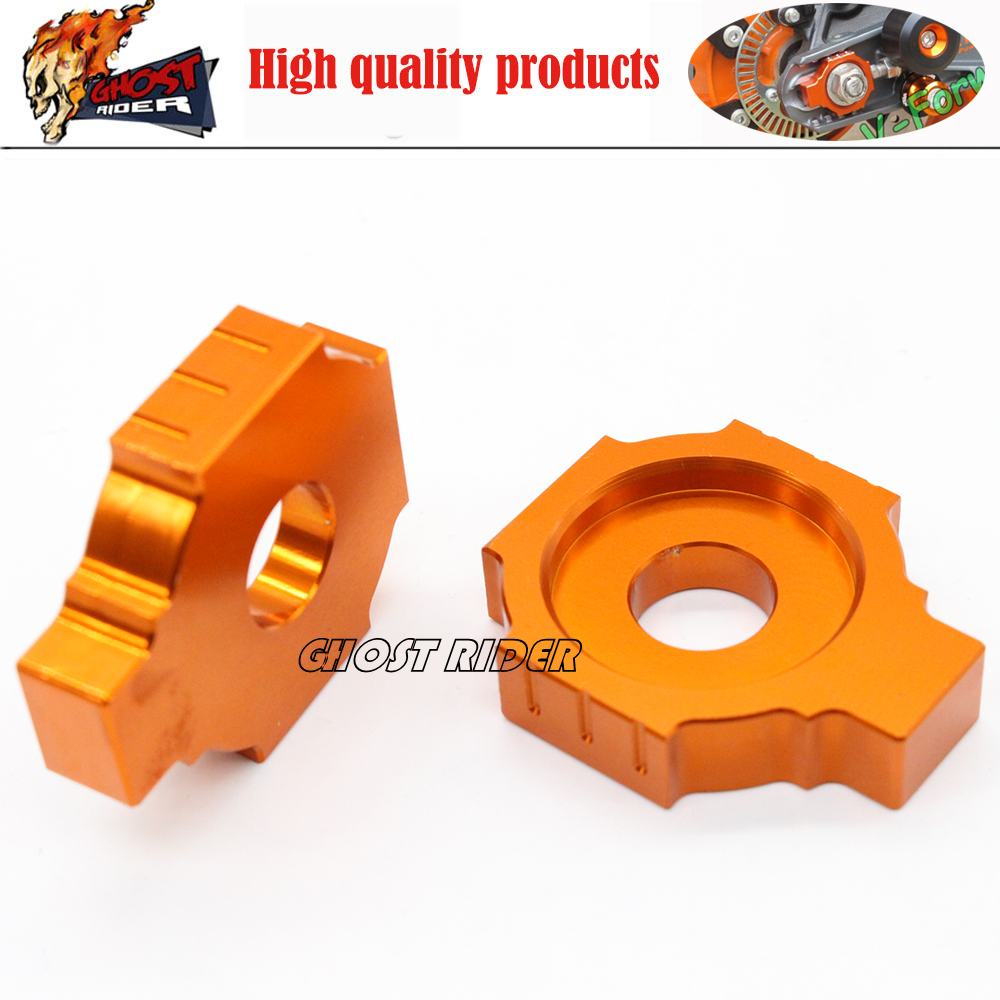 Rear Axle Blocks Chain Adjuster fits for KTM 350 450 525 530 EXC/EXC-F/XC-W/XCF-W 2000-2015 billet axle blocks chain adjuster for ktm 125 150 200 250 300 350 400 450 500 505 525 530 exc exc f xc w xcw xcf w 2000 2015