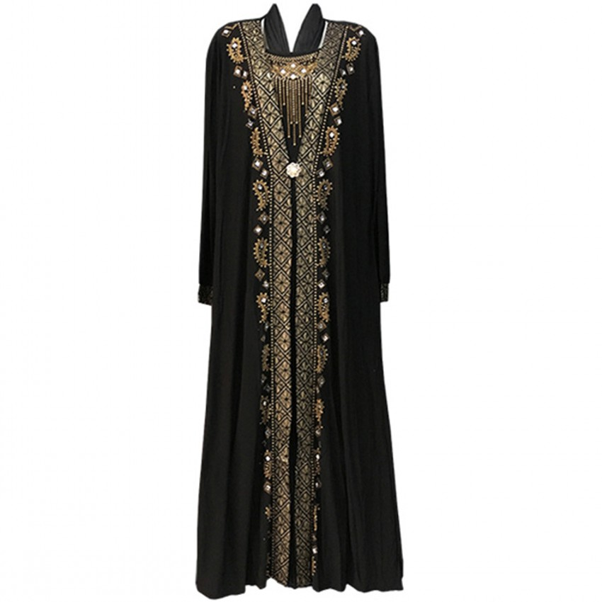 African Dresses For Women Abaya 2019 New AFrican Design Bazin Chiffon Long Stick Diamond SLeeve Dashiki Dress For Lady