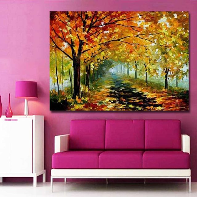 Online Shop Large Wall Pictures for Living Room Handmade Modern Tree ...