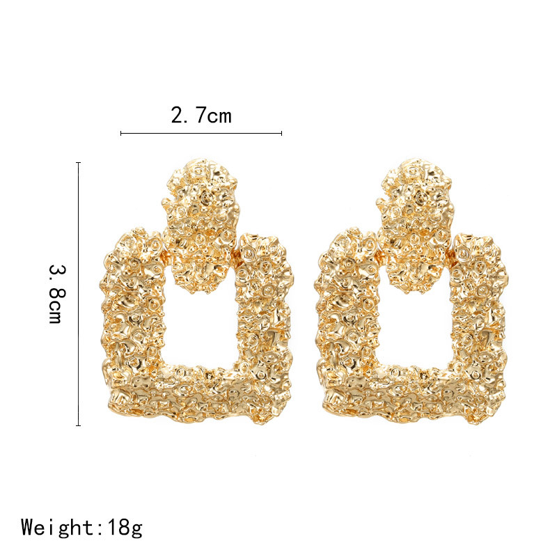 Big Vintage Earrings for Women Gold Silver Geometric Statement Earrings 19 Metal Earring Hanging Fashion Jewelry 7