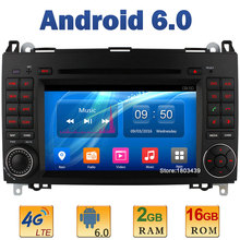 7″ Quad Core 2GB RAM 4G LTE SIM WIFI Android 6 Car DVD Player Radio For Mercedes-Benz W169 Sprinter W209 Crafter Viano Vito LT3