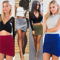 Sexy Women Formal Stretch High Waist Short Bodycon Mini Pencil Skirt