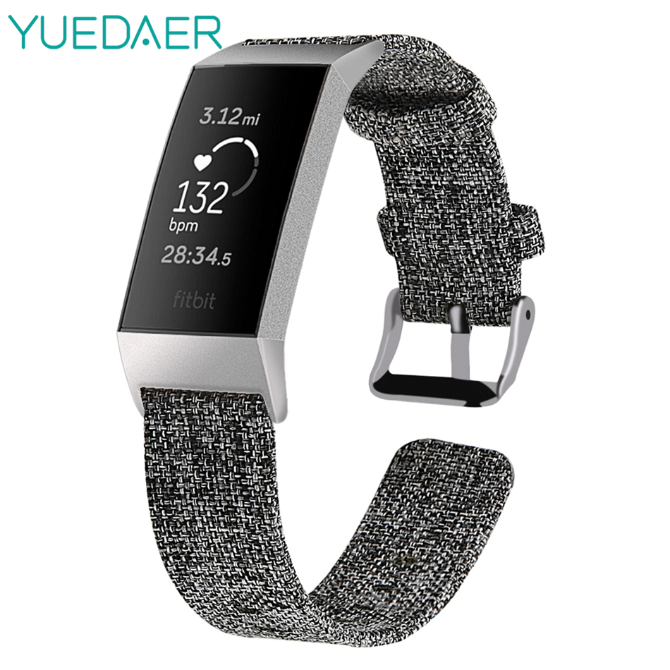 YUEDAER Gray Nylon Strap For Fitbit Charge 3 Charge3 Band Replacement Canvas Watchband Men Women Wristband For Fit Bit Charge 3 YUEDAER Gray Nylon Strap For Fitbit Charge 3 Charge3 Band Replacement Canvas Watchband Men Women Wristband For Fit Bit Charge 3