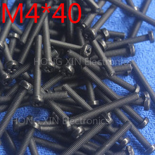 M4*40 Black 40mm 1pcs Round Head nylon Screw plastic bolts brand new RoHS compliant Fasteners Assortment PC/board DIY