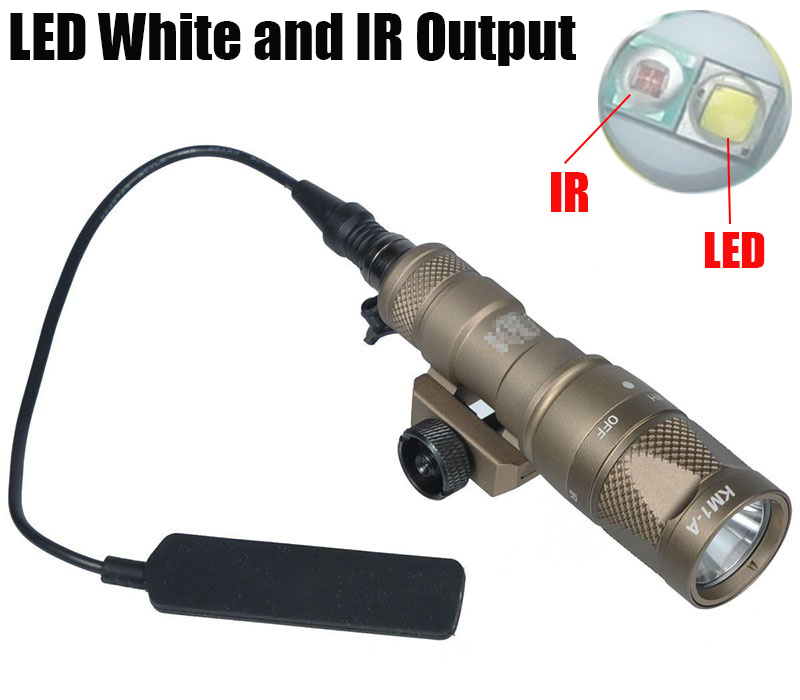 Tactical SF M300V IR Scout Light LED Weapon Light White ...