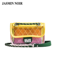 Summer New Transparent PVC Fashion Women Chain Messenger Bag Beach Jelly Female Designer Shoulder Small Cute