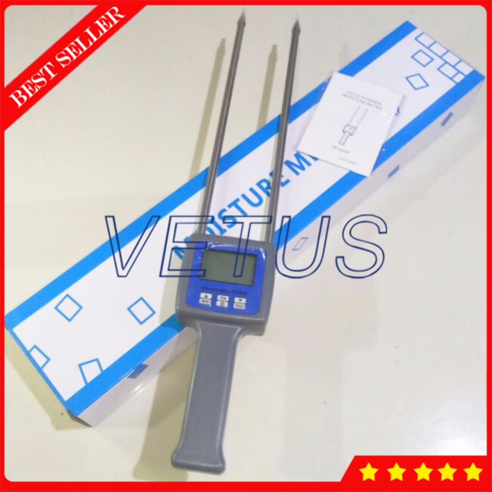 TK100W 4 digital LCD Display Wood Sawdust Powder Moisture Tester Meter mc 7806 digital moisture analyzer price with pin type cotton paper building tobacco moisture meter