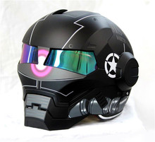 Личность мотоциклетный шлем Подлинных мужчин и женщин 610 человек ретро железа BMX zagu черный