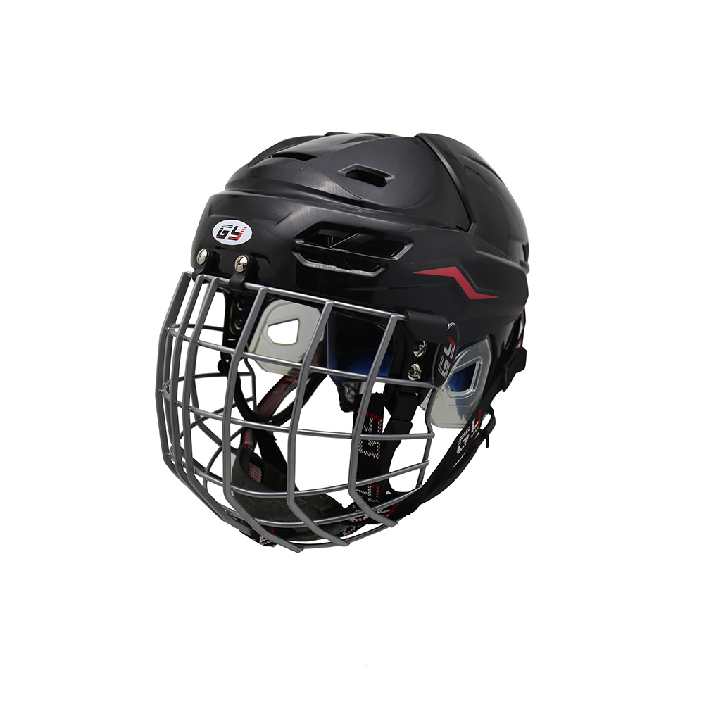 GY Kids Ice Hockey Helmet with Steel Mask Full Protection Full Face Covered 2016 hot sale ice hockey helmet for player black full face mask