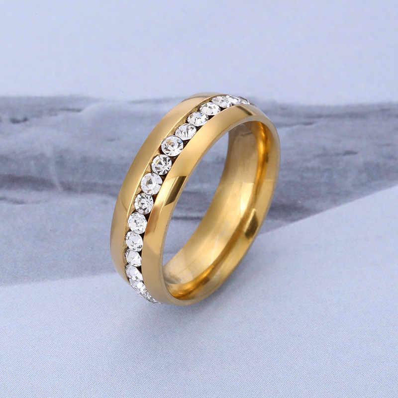 خواتم من الفولاذ المقاوم للصدأ للرجال والنساء خاتم ذهبي وردي مملوء بالفضة خواتم خطوبة للسيدات خاتم ذهبي للزوجين