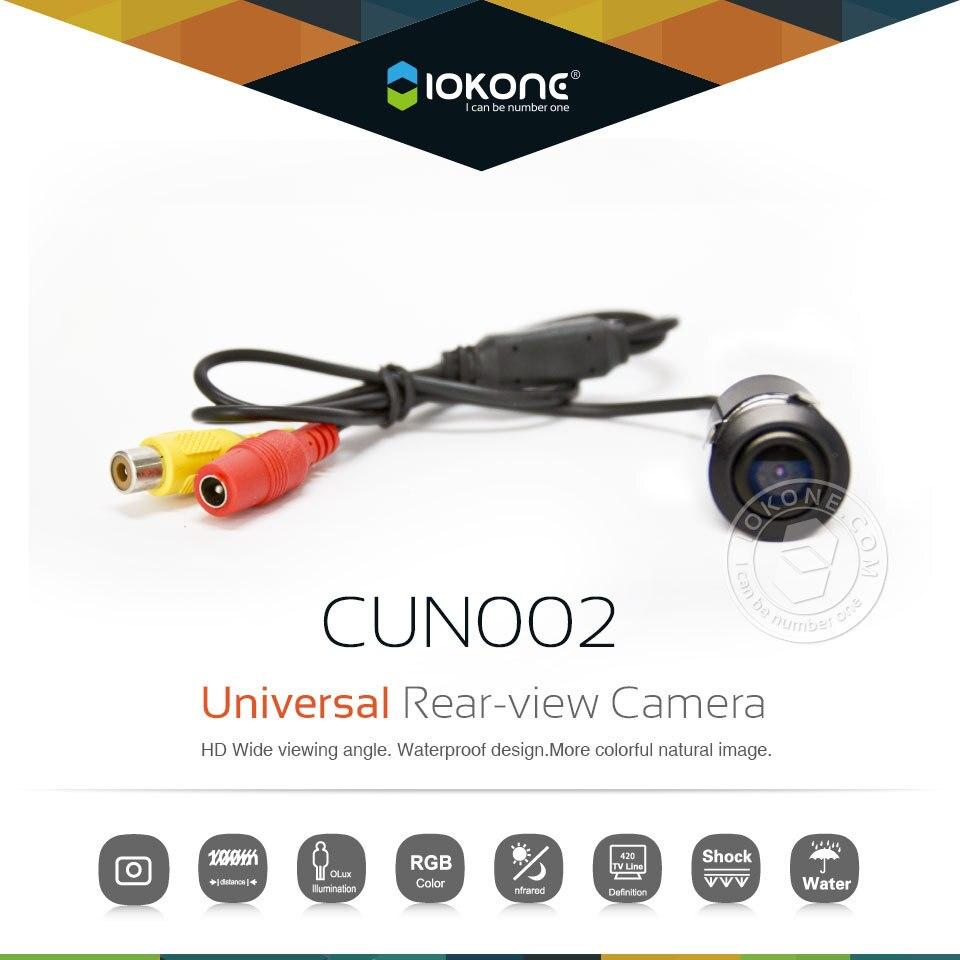 Iokone universal автомобиль зад камера для всех автомобили резервного копирования камера с 130 град. широкий угловой точная вспять