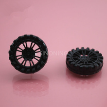 2 35mm plastic toy wheel DIY for 2mm shaft model