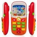 Niños de los Niños del Teléfono Móvil Electrónica con Sonido Inteligente Teléfono Móvil Juguete Juguete de la Educación Temprana Juguetes Infantiles de Colores Aleatorios