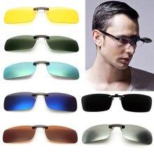 Открытый Унисекс Поляризованные клип на солнцезащитные очки близорукие вождения ночного видения объектив Анти-UVA Велоспорт езда солнцезащитные очки клип