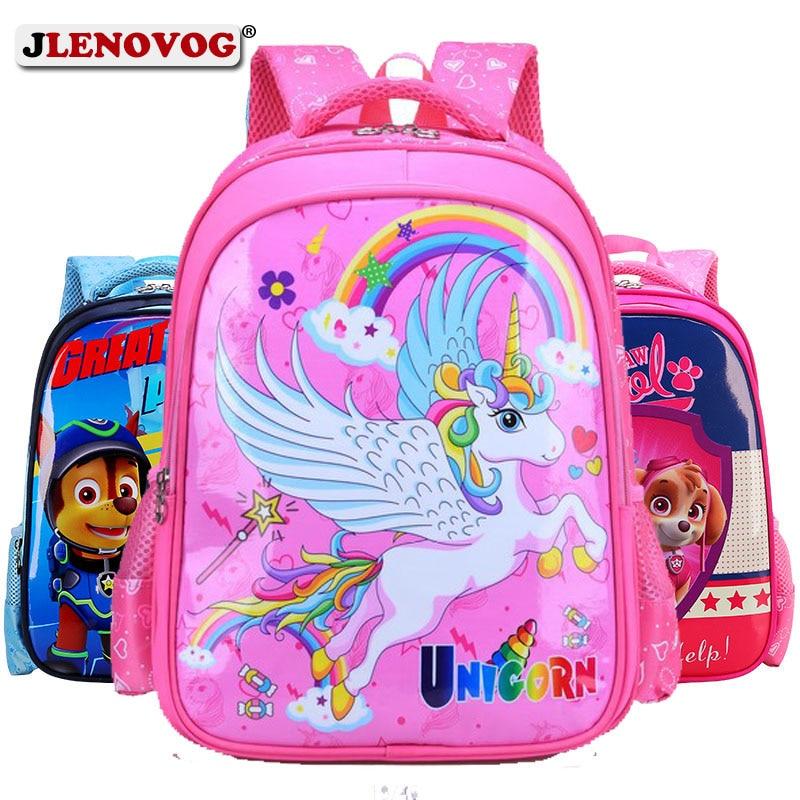 Detail Feedback Questions about Kids Puppy Cartoon School Bags LOL Unicorn  Minnie Mickey Mouce Schoolbag Book Bag Batman Paw Pug Backpack for Boys  Girls ...