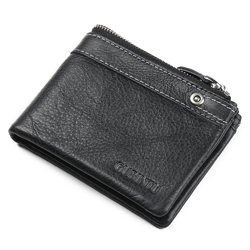 GUBINTU Genuine Leather Men Wallets Short Wallet Vintage Male Purse Card Holder Men's Purse Coin Pocket Slim Wallet Male portfel 2017 new wallet small coin purse short men wallets genuine leather men purse wallet brand purse vintage men leather wallet