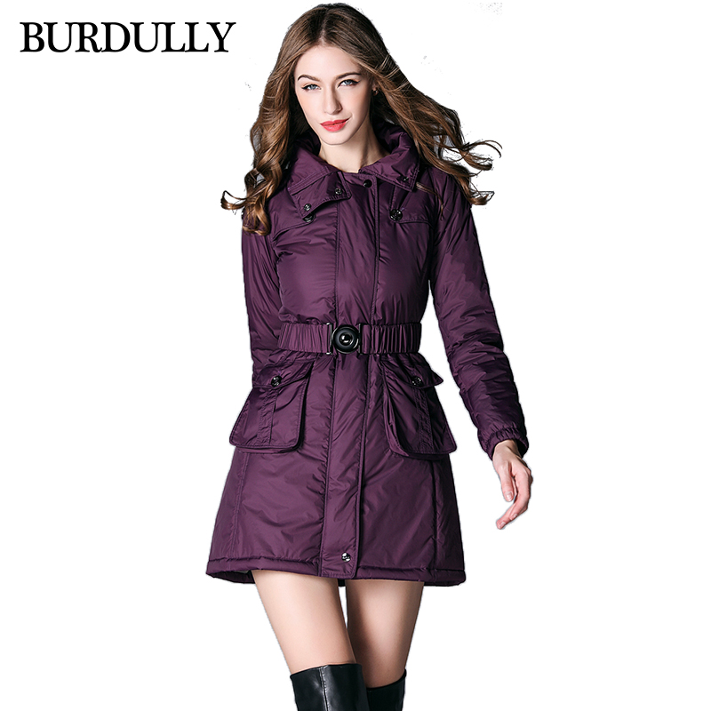 European High Quality 2017 Autumn Winter Coat Jacket Women Long Sleeve Hooded Parka Thick Cotton Jacket Solid Coat Large Size