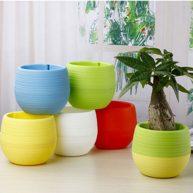 Gardening Mini Plastic Flower Pots Vase Square Bonsai Planter Nursery Planters