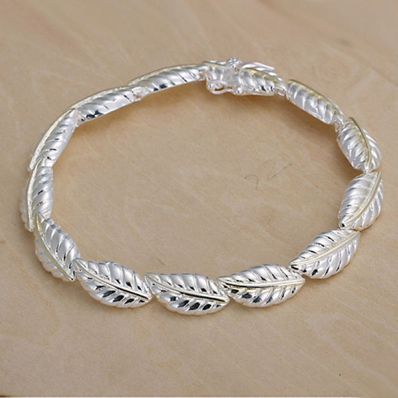 2016 Hot Silver Color Jewelry bracelet silver plated wristlet vintage accessories Feather Bracelet ZPXJKHVG VHUBOHGPI