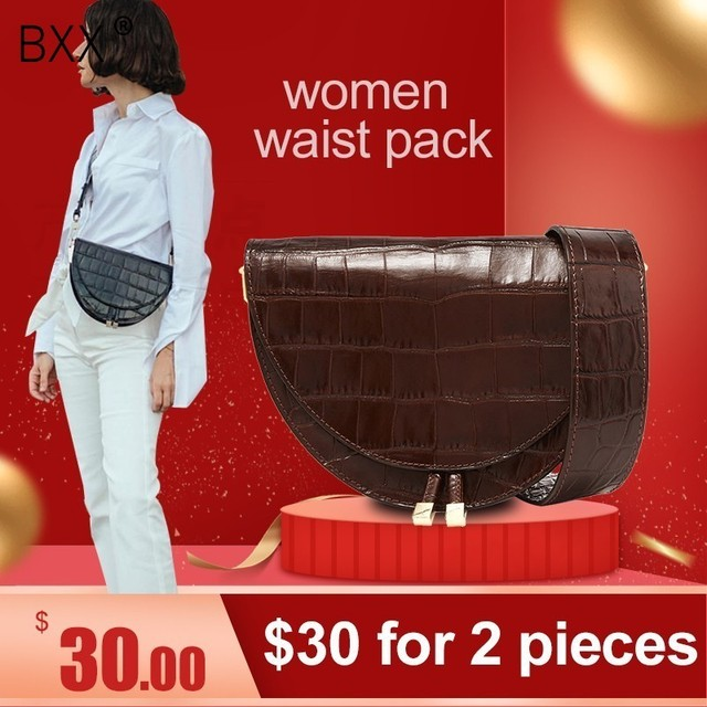 supper seabob 2020 new fashion women clothing half circle coverd pu leather trendy one shoulder shell bags WC63701 1
