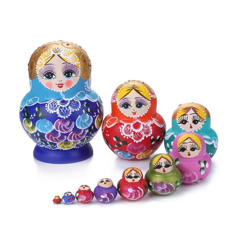 5/7/10 schichten Holz Russian Nesting Dolls Matryoshka Wohnkultur Ornamente Geschenk Russische Puppen Baby Handwerk Geschenke für Kinder geburtstag