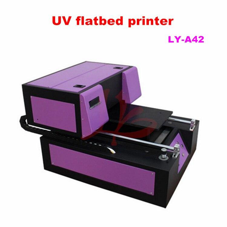 Met Goed Opvoeding Mini Uv Printer Machine Ly A42 200x300mm Metalen Flatbed Printer Machine Gereedschap Met 6 Kleurendruk