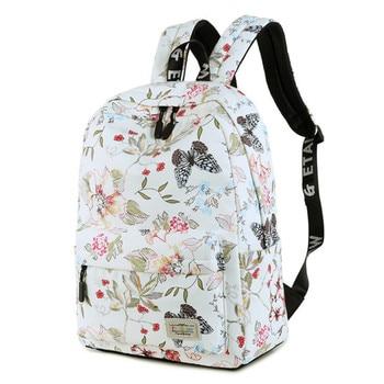 Women Backpacks For Teenage Girls Floral Printed School Bags Travel Leisure Laptop Backpack Female Waterproof Backpacks Mochilas joypessie brand vintage backpack mochilas travel pu leather backpack women backpacks for teenage girls school bags