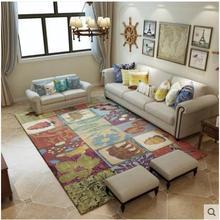 Kids Playroom Rugs Bedroom Bedside Area Rug Baby Play Crawling Round Mat Anti-slip Floor Bath Chair Mat Cartoon Giraffe Carpets
