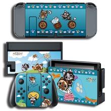 Airou Monste r Hunter Skin Sticker for Nintendo Switch NS Console + Joy-Con + Dock Station
