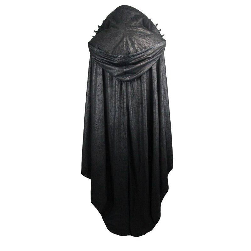 Diablo de moda Steampunk durante mucho tiempo, las mujeres capa abrigos Punk gótico Halloween Conde vampiro murciélago capa estilo traje Casual abrigos - 6